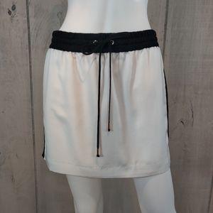 White Express Side Stripe Sporty Skirt Size Small